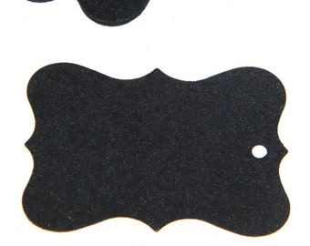 50 Chalkboard Paper Tags - perfect for wedding favor tags - gift tags - jar tags - black chalkboard tags