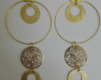 Golden earrings - 10cm