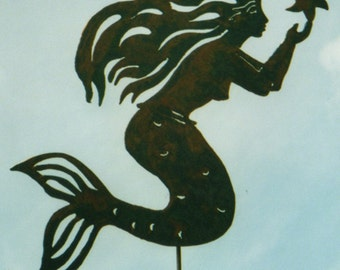 Mermaid with Starfish Yard Art by Rustiques Garden Art