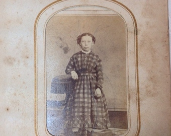 Two Antique Portrait Two Children Dressed in Wonderful 1800's Clothing
