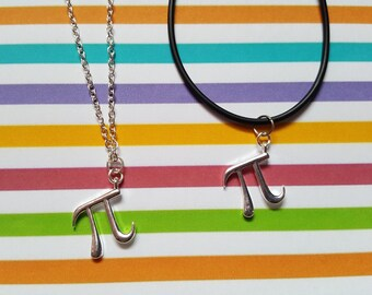 Pi necklace, Pendant necklace, Science, Maths, Geek, Nerdy, Geek chic, Gifts for geeks, Science lovers, Maths lovers, Pi, Pi symbol