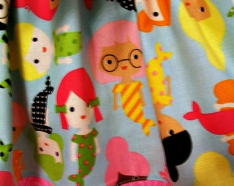 Girl's Skirt - Size Medium - Mermaids - Girlfriends - Besties - Sash or Head Wrap