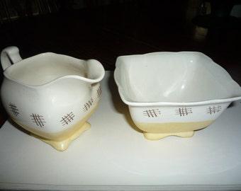 Sugar Bowl and Creamer