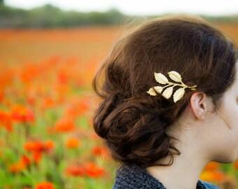 Branch Hair Pins Leaves on a Branch Hair Clip Woodland Bride Wedding  Hair Clips Gold Leaf Hair Accessory  Bride Bridal Hair Accessories