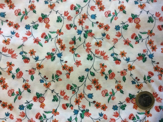 Cotton jersey, floral print