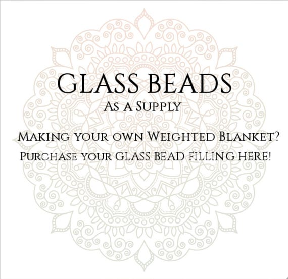 GLASS BEAD filling for making your own weighted blanket, DIY Weighted Blanket Filling, Glass Pellets, Glass Filling, Weighted Blanket Supply