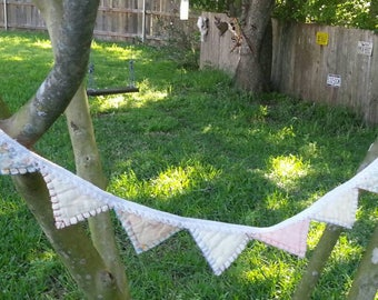 Upcycled Vintage Quilt Mini Banner Bunting Garland
