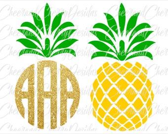 Pineapple monogram SVG Pineapple svg Summer svg Tropical SVG Vacation svg Monogram frame SVG Pineapple Cricut Cut File Pineapple Silhouette