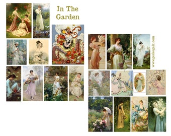 In The Garden Digital Collage Set
