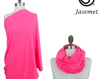 Nursing Cover Scarf, Breastfeeding Scarf, Nursing Scarf, Infinity Scarf, Breastfeeding Cover, Hot Pink, Nursing Poncho