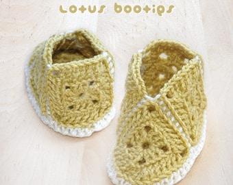 Crocheted Lotus Booties PATTERN, SYMBOL DIAGRAM (pdf)