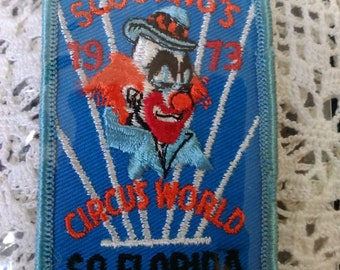 Boy Scout Patches, 1973 circus world South Florida council