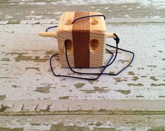 Toy Ariadne's Block - Maze - Handcrafted Wooden Toy Ariadne's Block - Maze - Folk Toy Maze - Ariadne's Block - Wooden Folk Toy