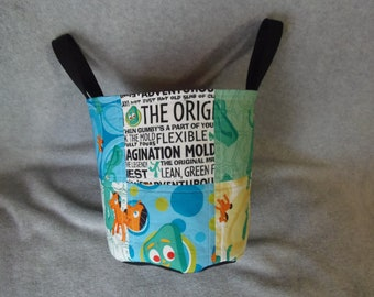 Gumby and Pals Fabric Basket with handles