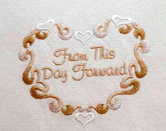 From This Day Forward Tea Towel | Personalized Kitchen | Embroidered Kitchen Towel | Kitchen Towel | Personalized Kitchen Gifts | Wedding