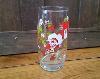 Vintage Strawberry Shortcake Collectors Glass 1980 It's the Berries