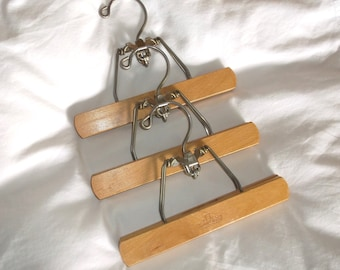 ReSeRvEd • Vintage HARMONY HOUSE Pants Hangers w/ space saving Tier Hooks • 3 count