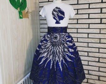 African Clothing: Exclusive Li Li Girl Belle Skirt Set - FULLY Lined Version