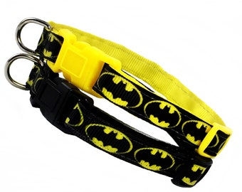 BATMAN inspired 3/8 inch wide breakaway cat collar