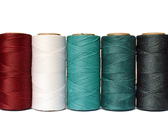 Waxed Cord, 50 meters Linhasita - Macrame Cord, Bracelet Thread, Waxed Polyester, Jewelry Cord