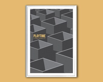 Movie poster Playtime poster 12x18 inches retro print