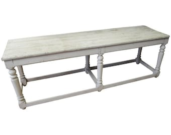 Kitchen Island Restaurant Serving Prep Table Refectory Console, 100 Years Old