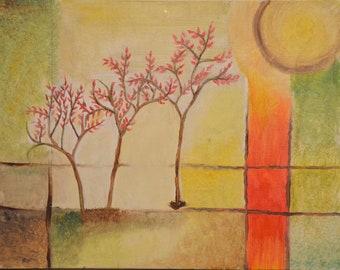 classy R us Handmade Botanical Oil Painting on Canvas. Original Artwork