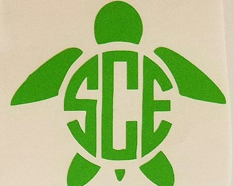 Free Shipping Turtle Monogram