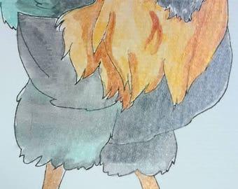 Americauna Watercolor painting