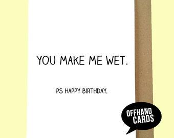 Funny, Rude Birthday Card, Love Card, Lesbian Card, Husband/Boyfriend Card. Customisable, Ships Worldwide from UK, 1st Class UK Shipping.