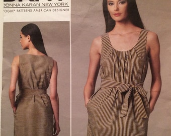 Vogue DKNY Dress and belt pattern Vogue American Designer Pattern 1236  easy to Sew