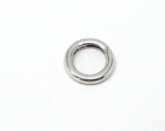 Sterling Silver O spring gate style clasp 16mm, 14mm, or 11.7mm diameter.