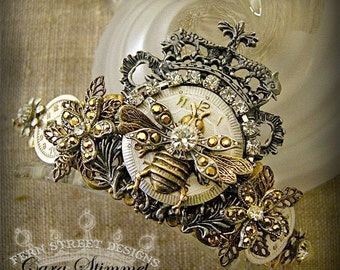 Queen Bee Steampunk Crown - Featured in Jewelry Affaire,