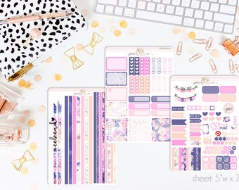 Carry-On HORIZONTAL Weekly Kit // 130+ Matte Planner Stickers // Perfect for your Erin Condren Life Planner // WKH0630