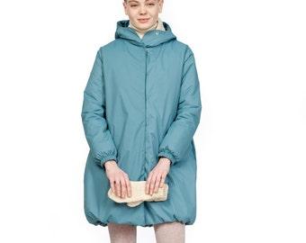 Turquoise winter coat