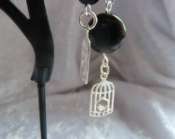 Genuine Obsidian GEMSTONES earrings