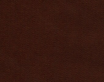 60 Inch Wide ORGANIC Cotton Twill Fabric By the Yard NUTMEG BROWN