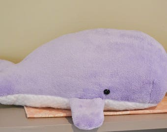 Sperm Whale Plush Furry Lavender Large *Personalize it!