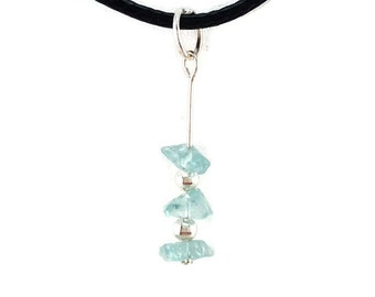 Gift for women, apatite jewelry, handmade crystal pendant, gift idea, blue apatite necklace, healing crystal jewelry women gift handmade vyc
