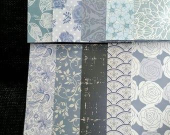 paper set of 10 sheets of paper 15 x 15 cm