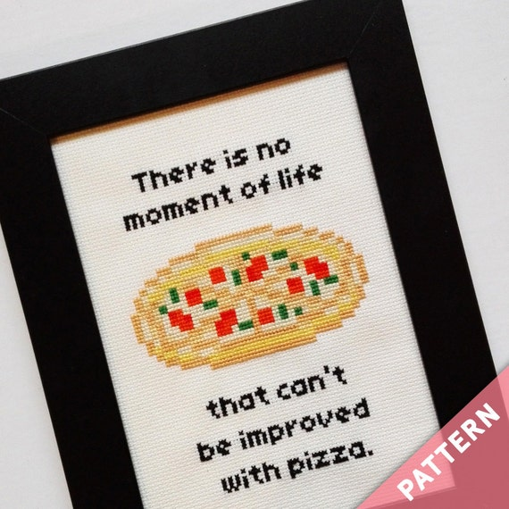 Daria Show Cross Stitch Pattern · Pizza