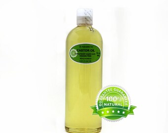 16 Oz  Organic Castor Oil 100% Pure Cold Pressed