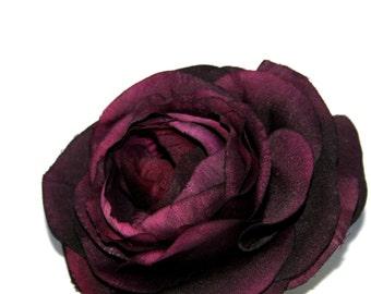 1 Royal Purple Ranunculus - Silk Flower Heads - PRE-ORDER