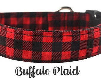 Buffalo Plaid - The Red and Black Plaid Dog Collar