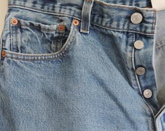 LEVIS 80's Boy Friend Grunge Jeans 501xx Denim Jeans, Levis Strauss Distressed Denim