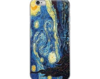 Starry Night Iphone Case - 6/6s, 6/6s plus 7/7 plus case - Vincent Van Gogh Painting