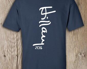 Hillary Clinton for President 2016 Mens Signature Crew neck T-Shirt