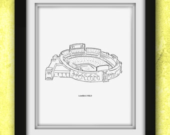 Green Bay Lambeau Field Print