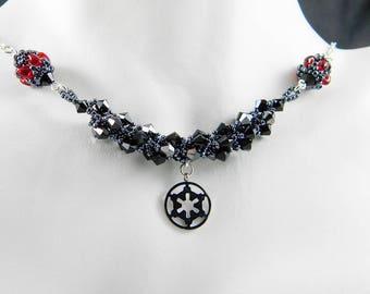"SW Empire Villain Beadweaving Necklace ""The Dark Side"""