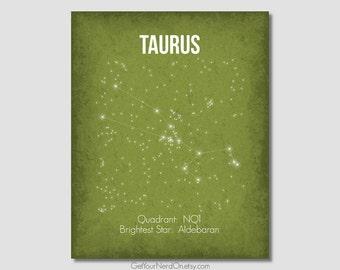 Taurus Constellation, Astronomy Decor, Space Nursery Decor, Science Art Poster